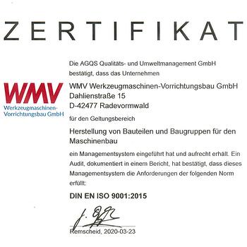ISO9001 Zertifikat Vorschau